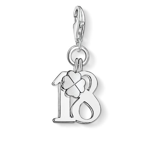 Charm pendant lucky number 18 from the  collection in the THOMAS SABO online store