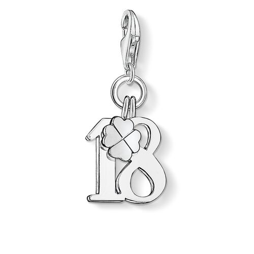 """Charm pendant """"lucky number 18"""" from the  collection in the THOMAS SABO online store"""