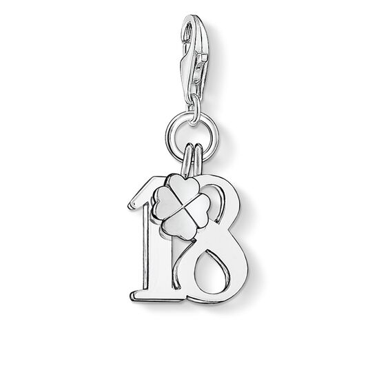 "ciondolo Charm ""numero portafortuna 18"" from the  collection in the THOMAS SABO online store"