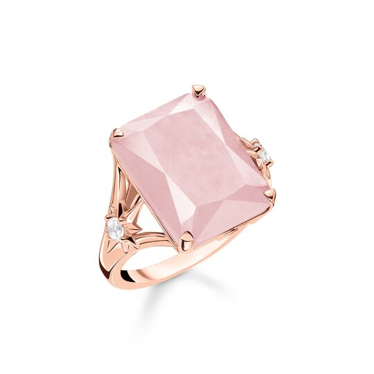 ring large pink stone with star from the  collection in the THOMAS SABO online store
