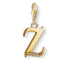 Charm pendant letter Z gold from the Charm Club Collection collection in the THOMAS SABO online store
