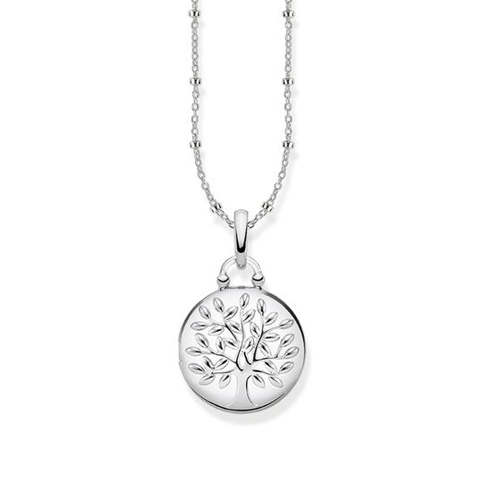 "necklace ""Locket Tree of Love silver round"" from the Glam & Soul collection in the THOMAS SABO online store"