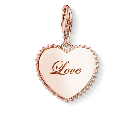 "ciondolo Charm ""cuore love"" from the Glam & Soul collection in the THOMAS SABO online store"