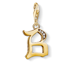 Charm pendant letter B gold from the Charm Club Collection collection in the THOMAS SABO online store