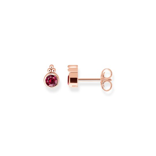 "ear studs ""Royalty Red Stone"" from the Glam & Soul collection in the THOMAS SABO online store"