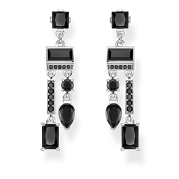 earrings Black mix of shapes from the Glam & Soul collection in the THOMAS SABO online store