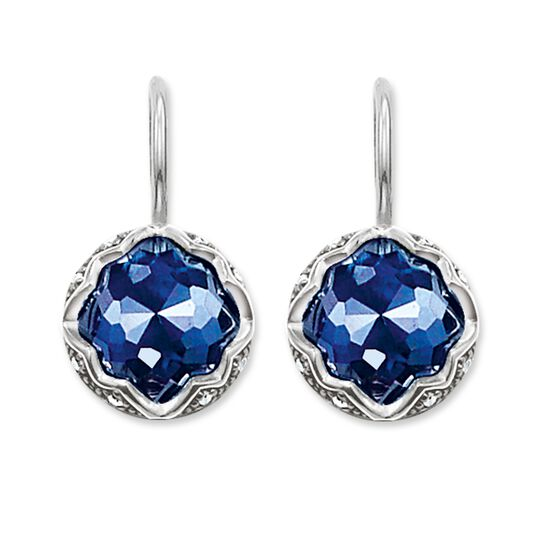 "earrings ""dark-blue lotus"" from the Glam & Soul collection in the THOMAS SABO online store"