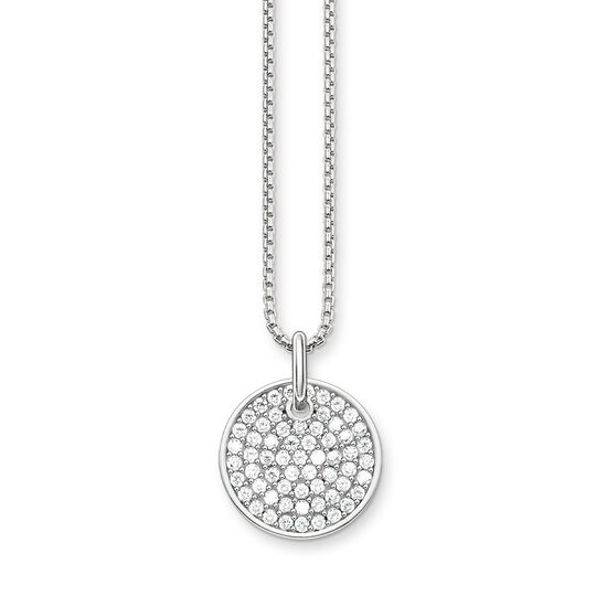 necklace Sparkling Circles Coin from the Love Bridge collection in the THOMAS SABO online store