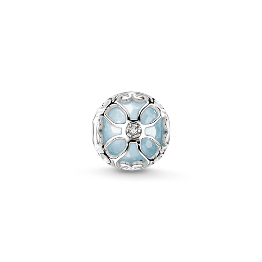 Bead light-blue lotus flower from the Karma Beads collection in the THOMAS SABO online store