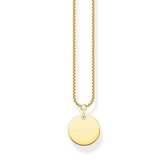 Necklace disc gold from the  collection in the THOMAS SABO online store