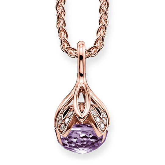 """necklace """"purple lotus flower"""" from the Glam & Soul collection in the THOMAS SABO online store"""