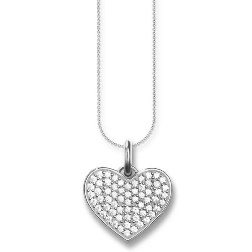 "necklace ""heart pavé"" from the Love Bridge collection in the THOMAS SABO online store"