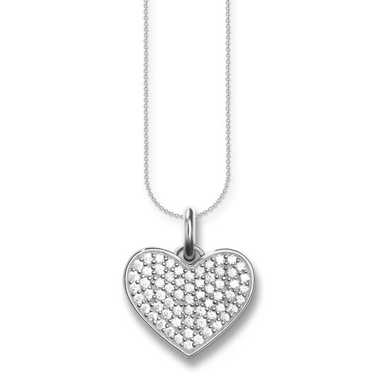 """necklace """"heart pavé"""" from the Love Bridge collection in the THOMAS SABO online store"""