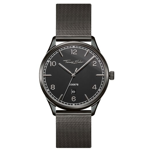 Watch unisex CODE TS black from the Glam & Soul collection in the THOMAS SABO online store