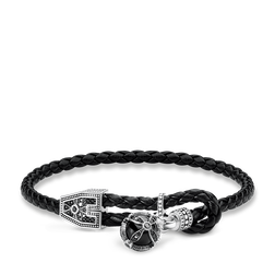 "leather strap ""Royalty cross"" from the Rebel at heart collection in the THOMAS SABO online store"