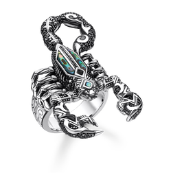 "ring ""scorpion"" from the Rebel at heart collection in the THOMAS SABO online store"