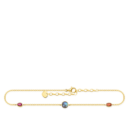 anklet Colourful stones, gold from the Glam & Soul collection in the THOMAS SABO online store