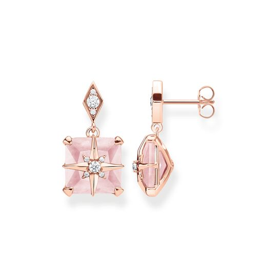 ear studs pink stone with star from the Glam & Soul collection in the THOMAS SABO online store
