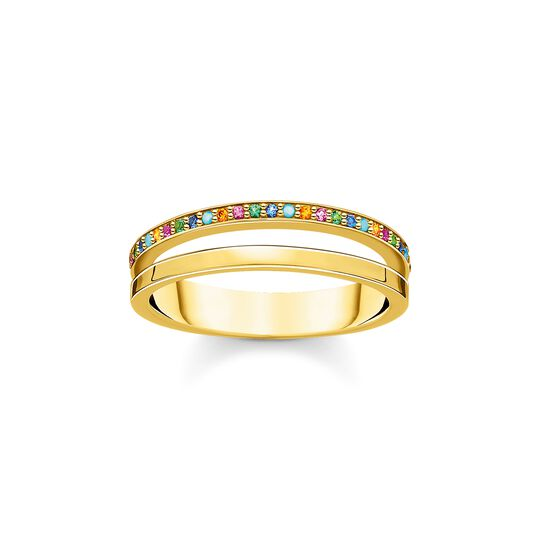 Ring double colored stones gold from the Charming Collection collection in the THOMAS SABO online store