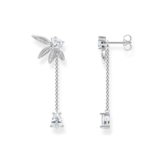earrings leaves with chain large silver from the  collection in the THOMAS SABO online store