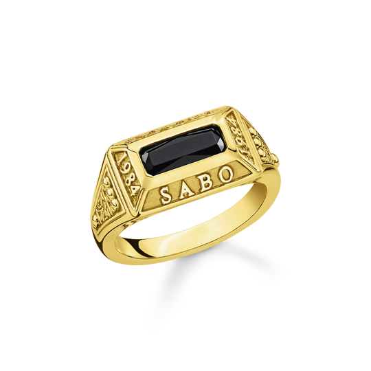 Ring College Ring gold from the Rebel at heart collection in the THOMAS SABO online store