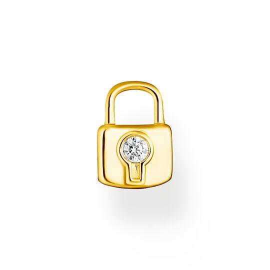 Pendentif pour boucle d'oreille unique cadenas or de la collection Charming Collection dans la boutique en ligne de THOMAS SABO