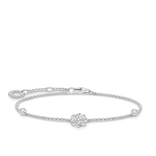 Bracelet cloverleaf with stones silver from the Charming Collection collection in the THOMAS SABO online store
