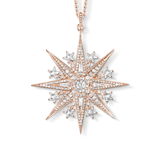 Pendant on chain Magic Star Rose gold from the Glam & Soul collection in the THOMAS SABO online store