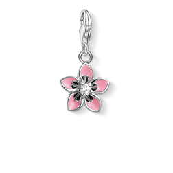 Charm pendant pink flower from the Charm Club Collection collection in the THOMAS SABO online store