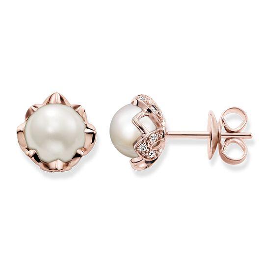 """clous d'oreilles perles  """"fleur de lotus"""" de la collection Glam & Soul dans la boutique en ligne de THOMAS SABO"""