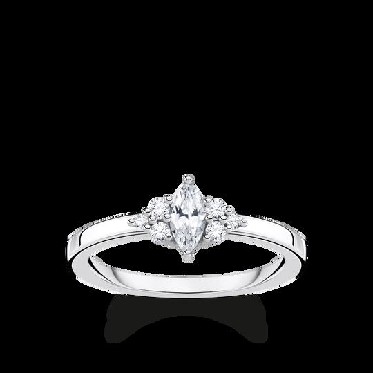 Ring vintage vit stenar silver ur kollektionen Charming Collection i THOMAS SABO:s onlineshop