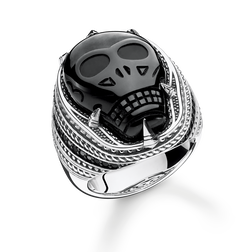 ring onyx skull from the Rebel at heart collection in the THOMAS SABO online store
