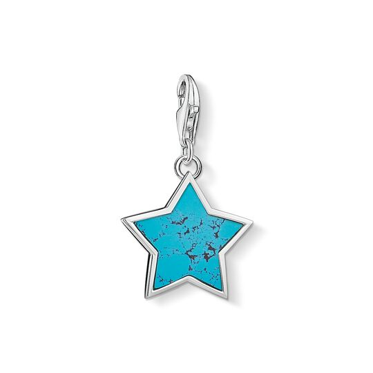 Charm pendant Turquoise star from the Charm Club collection in the THOMAS SABO online store