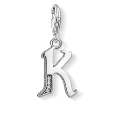 Charm pendant letter K silver from the Charm Club Collection collection in the THOMAS SABO online store