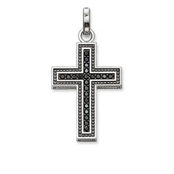 "pendant ""black cross pavé"" from the Rebel at heart collection in the THOMAS SABO online store"