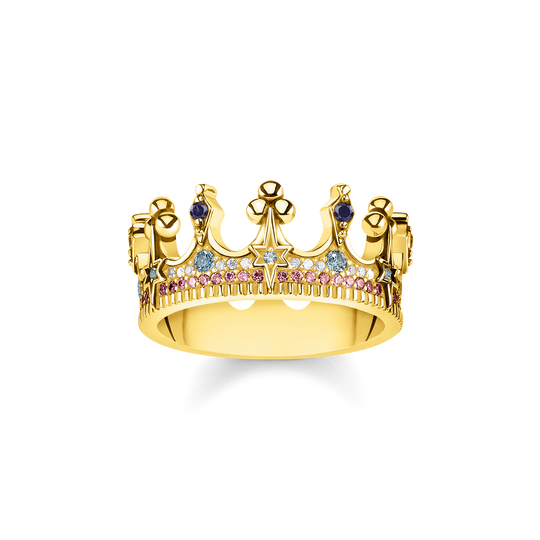 ring crown gold from the Glam & Soul collection in the THOMAS SABO online store