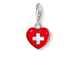 Charm pendant heart Switzerland from the Charm Club Collection collection in the THOMAS SABO online store