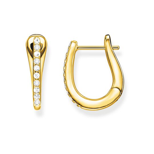 hoop earrings classic gold from the Glam & Soul collection in the THOMAS SABO online store