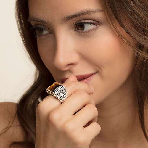 "ring ""Ethnic Skulls Brown"" from the Rebel at heart collection in the THOMAS SABO online store"