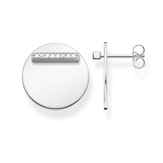 ear studs Together disc silver from the Glam & Soul collection in the THOMAS SABO online store