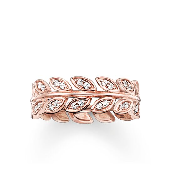 """band ring """"leaves"""" from the Glam & Soul collection in the THOMAS SABO online store"""