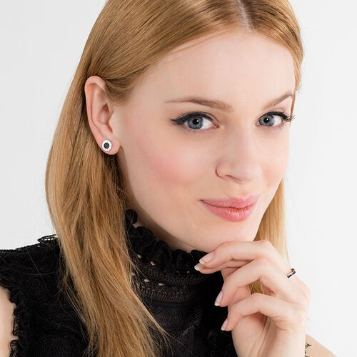 "ear studs ""Classic pavé black"" from the Glam & Soul collection in the THOMAS SABO online store"