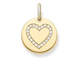 "pendant ""heart disc"" from the Love Bridge collection in the THOMAS SABO online store"