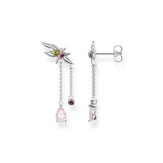 Earrings flower with colourful stones silver from the  collection in the THOMAS SABO online store