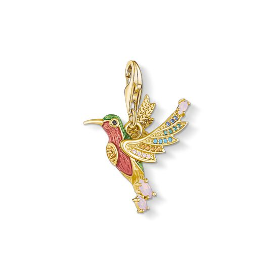 charm pendant colourful hummingbird gold from the Charm Club collection in the THOMAS SABO online store