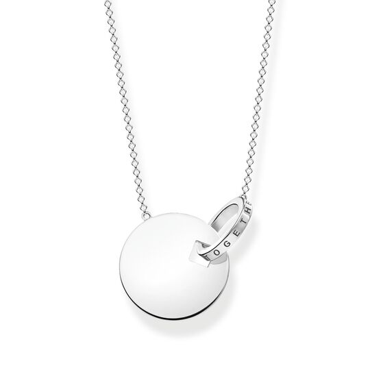 necklace large together coin with silver-coloured ring from the  collection in the THOMAS SABO online store