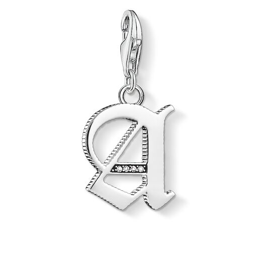 Charm pendant letter A silver from the  collection in the THOMAS SABO online store