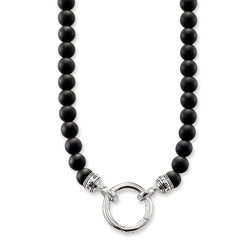 "necklace ""obsidian"" from the Rebel at heart collection in the THOMAS SABO online store"