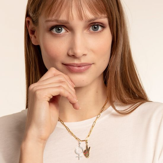 """Charm pendant """"Girl Power"""" from the  collection in the THOMAS SABO online store"""