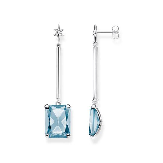 Ohrringe Blauer Stein mit Stern aus der  Kollektion im Online Shop von THOMAS SABO
